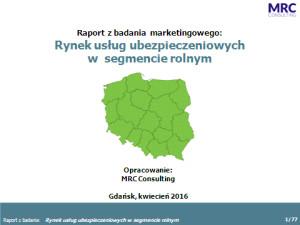 Rynek usług bankowych w segmencie rolnym [2016]